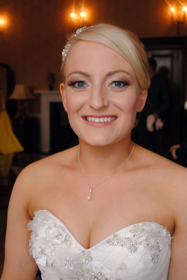 Bridal makeup for client Ali, Colwick Hall, Nottingham